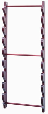 Eight Sword Wall Display Stand - Burgundy