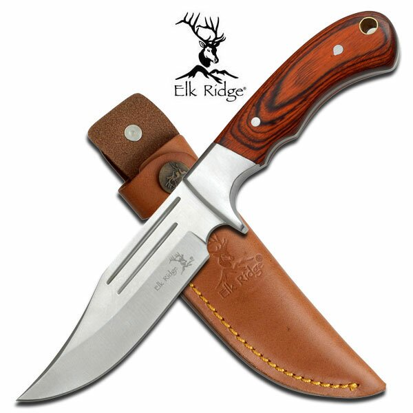 Elk Ridge Pakkawood Fixed Blade Knife 9.5'' Overall