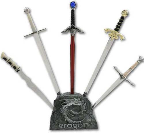 Eragon Miniature Sword Set with Stand(MC-ERMSET) Zar'roc ...  Eragon Miniatur...