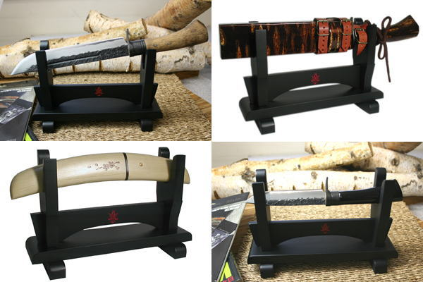 Kanetsune Knife and Tanto stand