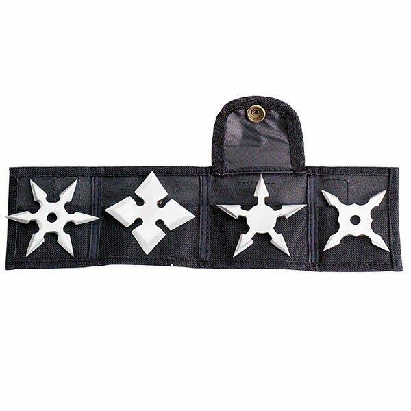 Ninja Mini Throwing Star 2.5'' - 4pcs/set w/pouch