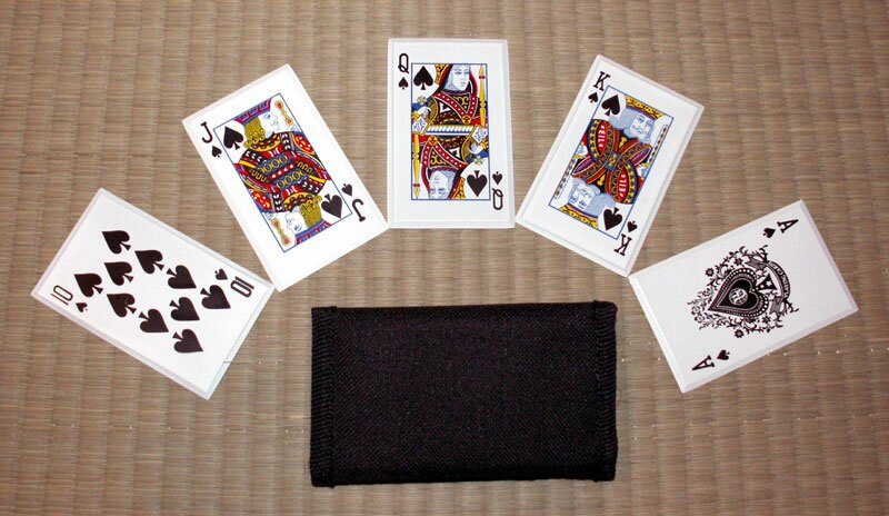 ''Royal Flush'' - SS card throwers, black