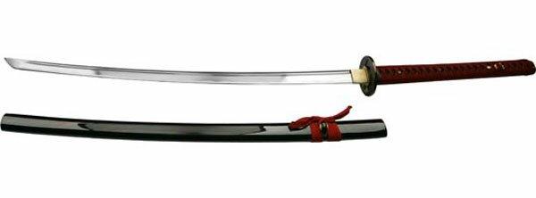 Ten Ryu Handmade Burgundy Katana