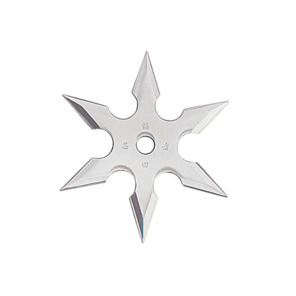 Throwing Star 6Pt SS 2.25'' w/pouch