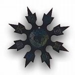Throwing Star Dragon Black 4''